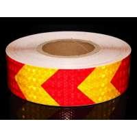 Dzeltena Sarkana (Bulta) Atstarojoša Līmplēve (1Metrs)