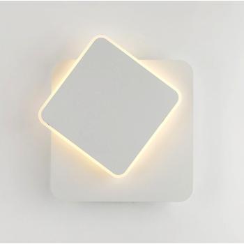 5w COB Balts 360 Grādu Rotējošs Sienas Gaismeklis Kvadrāta Formas 4500k