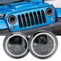 LED Jeep High / Low beam Headlamp with DRL + Turn Ø180mm