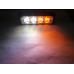 4Led flashing light Strobe 12W Orange + White 12-24V
