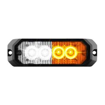 4Led bākuguns restē 12W Oranžs+Balts 12-24V