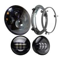 LED Motocikla Lukturis Tuvais/Tālais + Migla 60+30W