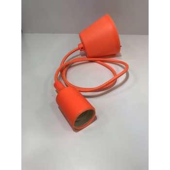 E27 mājas spuldžu, griestu kabelis. (Oranžs)
