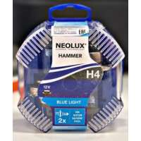 NEOLUX H4 12V halogēna spuldzes Blue light (2gb.)
