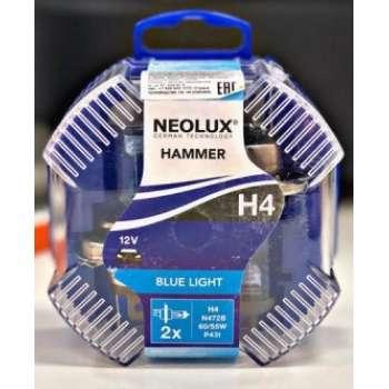 NEOLUX H4 12V halogēna spuldzes Blue light (2gb.)