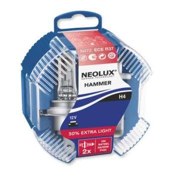NEOLUX H4 12V halogēna spuldzes 50% Extra light (2gb.)