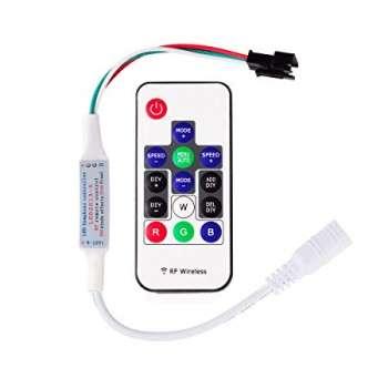 Digitālās Daudzkrāsu RGB Led Lentas WS2812B Vadības Pults 14 Pogas RF