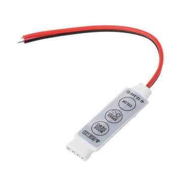 Daudzkrāsu RGB Led Lentu Vadības Pults 3 Pogas 72W