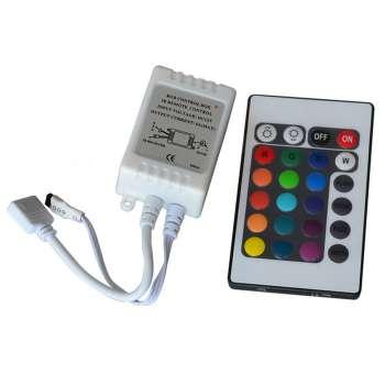 Daudzkrāsu RGB Led Lentu Vadības Pults 24 Pogas 72W