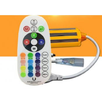 RGB (Daudzkrāsu) 220V LED Lentas kontrole IP68