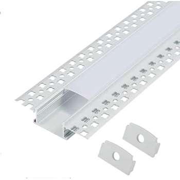3m Iebūvējams LED Lentu profils ar matētu stikliņu