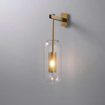 Retro Stila Stikla Sienas Lampa ar E14 Patronu