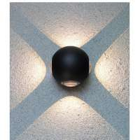 Home Wall LED Lighting Round 8W IP68 (Black)
