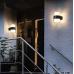 Mājas Fasādes Apaļš LED Apgaismojums 6W IP65 (Melns) 2700K
