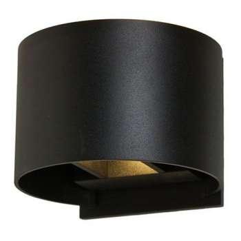 Mājas Fasādes LED Apgaismojums Ovāls Korpuss 7W (Melns)