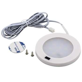 3w Led Virsapmetuma Panelis Apaļš Balta Krāsa Ar Kustības Sensoru 4500k