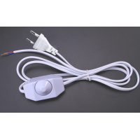 220V Power Cable With Dimmer Switch White