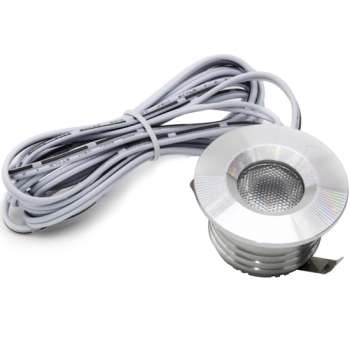 1w LED Built-in Panel 42mm Round Silver Color 2700K