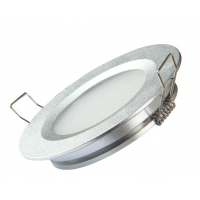 3w LED Input Panel 70mm Round Silver Color 2700k