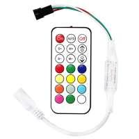 Digitālās Daudzkrāsu RGB Led Lentas Vadības Pults 21 Pogas