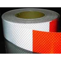 Red/White Reflective film (1 meter)