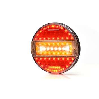 Sarkans 16 LED Gabarīta, Bremzes, Miglas, Atpakaļgaitas Un Pagrieziena Rādītāja Lukturis