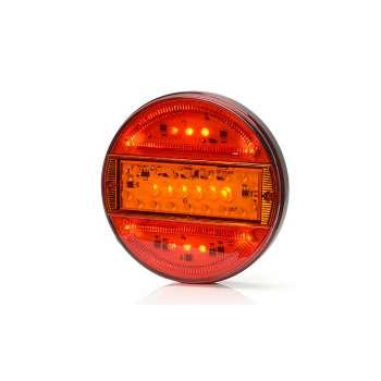 Sarkans 16 LED Gabarīta, Bremzes Un Pagrieziena Rādītāja Lukturis