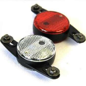 Velosipēda led diode spieķos (sarkans/balts)