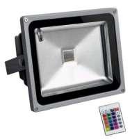LED Prožektors 30w Daudzkrāsu RGB Ar Tālvadības Pulti