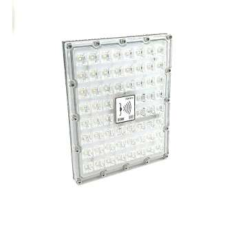 LED Prožektors Ar Kustības Sensoru SMD 50w 5118Lm Balta Gaisma 6500k