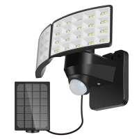 12W LED Prožektors ar Saules Baterijas Paneli un Kustības Sensoru (6000K)